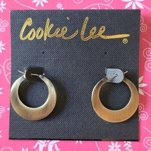 Bronzed gold hoops